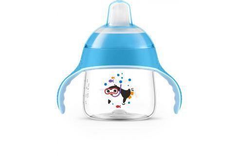 Philips Avent Hrneček pro první doušky Premium 200 ml, modrý Kojenecké lahve a hrníčky