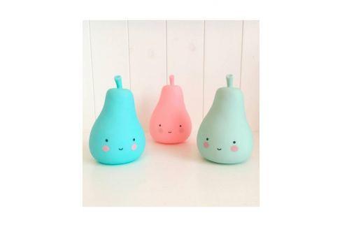Little Lovely Company Noční mini světýlko Hruštička - růžová Noční světýlka a lampičky