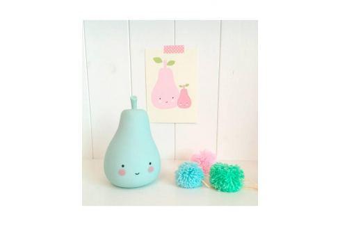 Little Lovely Company Noční mini světýlko Hruštička - modrá Noční světýlka a lampičky