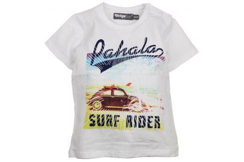 Dirkje Chlapecké tričko Surfer Rider - bílé Trička s krátkým rukávem