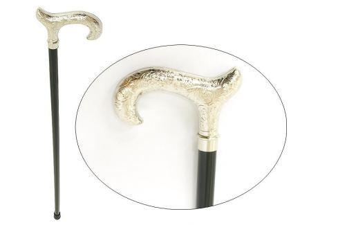 Walking sticks Dřevěná vycházková hůl s poniklovanou rukojetí Walking sticks 596 Vycházkové hole