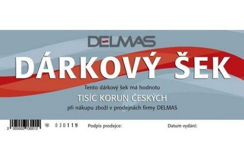 Dárkový šek DELMAS - 1000Kč Dárkové poukazy