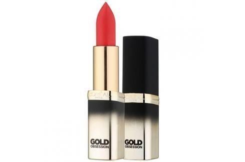 L'Oréal Paris Color Riche Gold Obsession rtěnka s 24 karátovým zlatem odstín Rouge Gold 7 ml Rtěnky