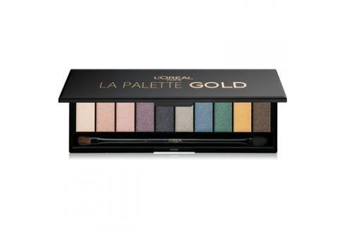 L'Oréal Paris Color Riche La Palette Gold paleta očních stínů se zrcátkem a aplikátorem  7 g Oči