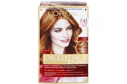 L'Oréal Paris Excellence Creme barva na vlasy odstín 7,43 Blonde Copper Barvy na vlasy