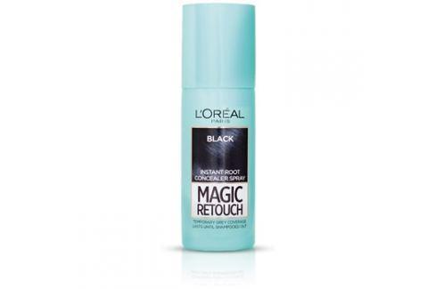 L'Oréal Paris Magic Retouch sprej pro okamžité zakrytí odrostů odstín Black 75 ml Barvy na vlasy