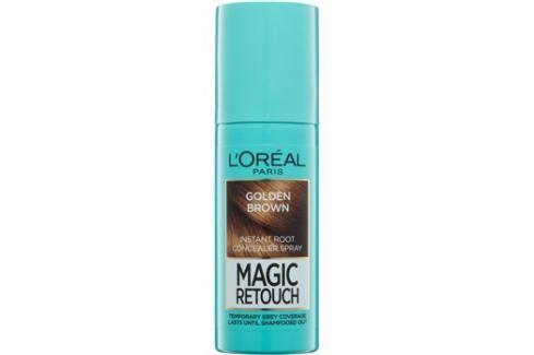 L'Oréal Paris Magic Retouch sprej pro okamžité zakrytí odrostů odstín Golden Brown 75 ml Barvy na vlasy