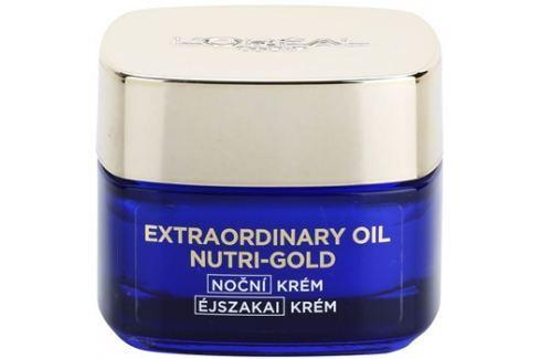 L'Oréal Paris Nutri-Gold rozjasňující noční krém s intenzitou masky Essential Oils + Royal Jelly - Light Texture, Silky Soft) 50 ml Noční krémy