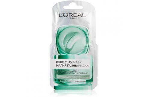 L'Oréal Paris Pure Clay čisticí zmatňující maska  6 ml Pleťové masky