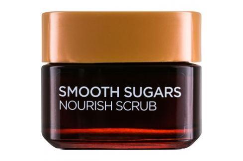 L'Oréal Paris Smooth Sugars Scrub peeling pro vyhlazení a výživu pleti  50 ml Pleťový peeling