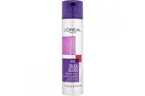 L'Oréal Paris Studio Line Silk&Gloss Volume sprej pro objem a lesk  250 ml Objemové pěny a spreje