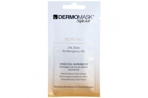 L'biotica DermoMask Night Active liftingová a zpevňující maska s 24 karátovým zlatem  12 ml Pleťové masky