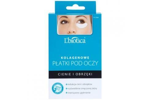 L'biotica Masks kolagenová maska na oční okolí proti otokům a tmavým kruhům (Paraben & SLS Free) 6 ks Masky na oči