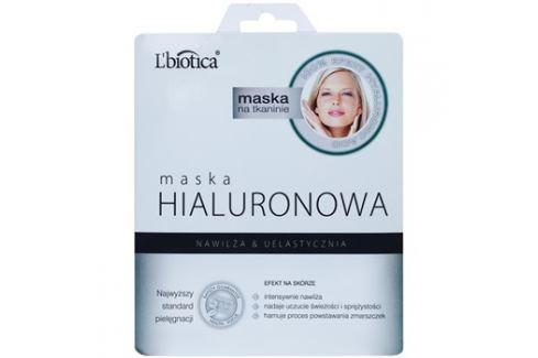 L'biotica Masks Hyaluronic Acid plátýnková maska s hydratačním a vyhlazujícím účinkem  23 ml Pleťové masky