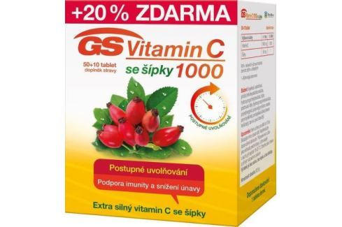 GS Vitamin C1000 + šípky tbl.50+10 2016 Vitamín C