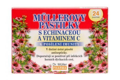Müllerovy pastilky s echinaceou 24ks Na imunitu