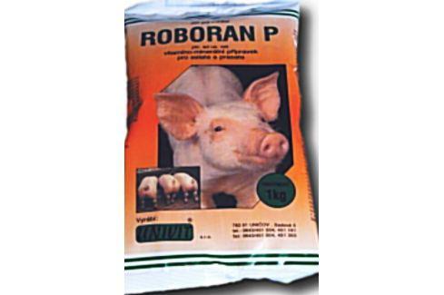 Roboran P pro prasata zajišťuje zvýšení přírůstků hmotnosti 1 kg Prasata, drůbež