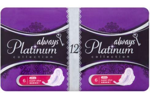 Always Platinum Collection Ultra Super Plus intimní vložky 2 x 6 ks Hygienické vložky