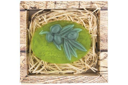 Bohemia Gifts & Cosmetics Oliva ručně vyráběné toaletní mýdlo v krabičce 90 g Mýdla