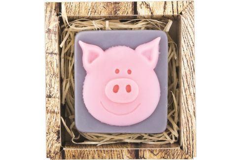 Bohemia Gifts & Cosmetics Prasátko ručně vyráběné toaletní mýdlo v krabičce 100 g Mýdla