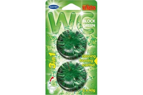Mr. Mattes Green 3v1 Wc blok 2x45 g Čistící prostředky na WC