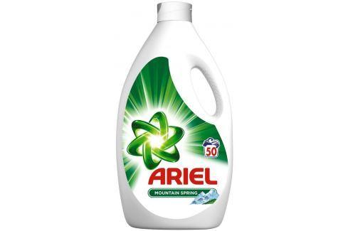 Ariel Mountain Spring tekutý prací prostředek pro krásně čisté a voňavé prádlo bez skvrn 50 dávek 3,25 l Gely na praní