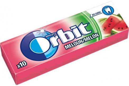 Wrigleys Orbit Meloun žvýkačky bez cukru ovocné dražé 10 kusů 14 g Žvýkačky