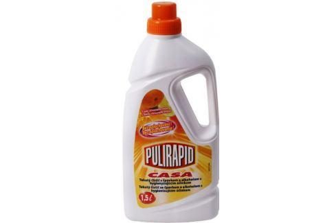 Pulirapid Casa Agrumi s vůní citrusového ovoce univerzální tekutý čistič se čpavkem a alkoholem na všechny domácí omyvatelné povrchy 1,5 l Čistící prostředky