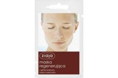 Ziaja Hnědý jíl regenerační pleťová maska všechny typy pleti 7 ml Pleťové masky