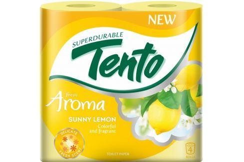 Tento Fresh Aroma Sunny Lemon parfémovaný toaletní papír 2 vrstvý 156 útržků 4 kusy Toaletní papír
