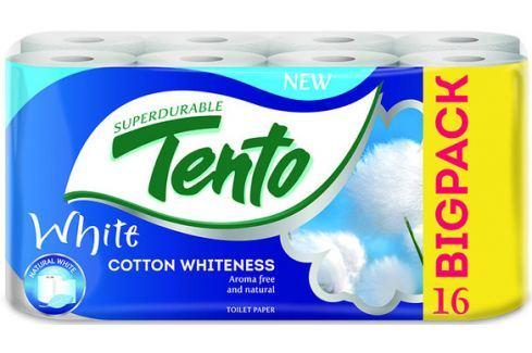 Tento Cotton Whiteness toaletní papír bílý 2 vrstvý 131 útržků 16 kusů Toaletní papír