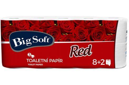 Big Soft Red toaletní papír bílý 3 vrstvý 10 kusů Toaletní papír