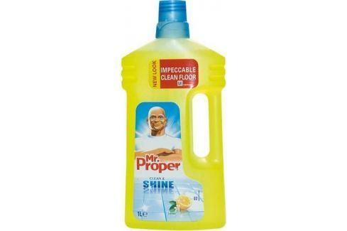 Mr. Proper Clean & Shine Lemon univerzální čistič včetně lakovaného dřeva a laminátu 1 l Čistící prostředky