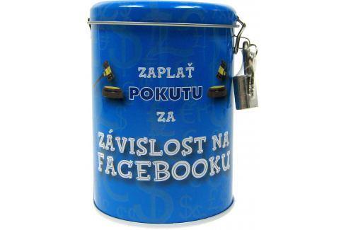Nekupto Pokladnička na pokuty Zaplať pokutu za závislost na Facebooku 10,5 x 7,5 cm 1 kus Pokladničky