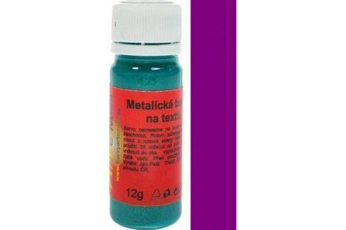 Art e Miss Barva na světlý i tmavý textil 42 metalická tmavá fialová 12 g Speciální výtvarné barvy