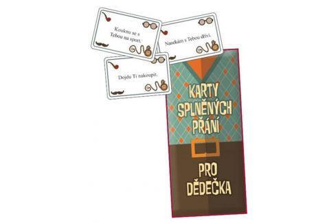 Bohemia Gifts & Cosmetics Karty splněných přání pro dědečka 20 kusů karet Obrazové rámy a rámečky