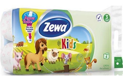 Zewa Kids Aqua Tube toaletní papír 3 vrstvý 150 útržků 8 kusů, rolička, kterou můžete spláchnout Toaletní papír