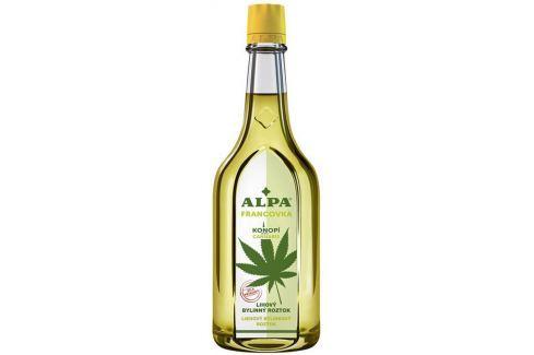 Alpa Francovka Konopí Cannabis lihový bylinný roztok 160 ml Masážní přípravky