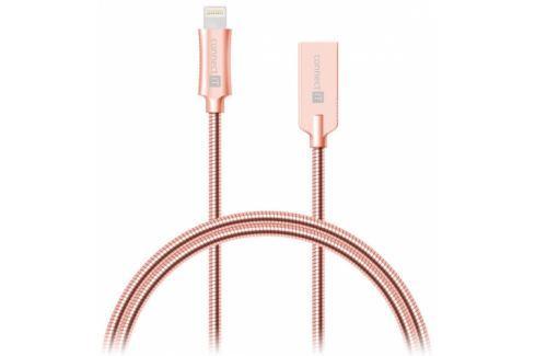 Connect IT Wirez Steel Knight USB/Lightning, ocelový, opletený, 1m (CCA-4010-RG) Data příslušenství