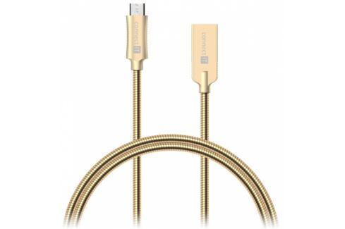 Connect IT Wirez Steel Knight USB/micro USB, ocelový, opletený, 1m (CCA-3010-GD) Data příslušenství