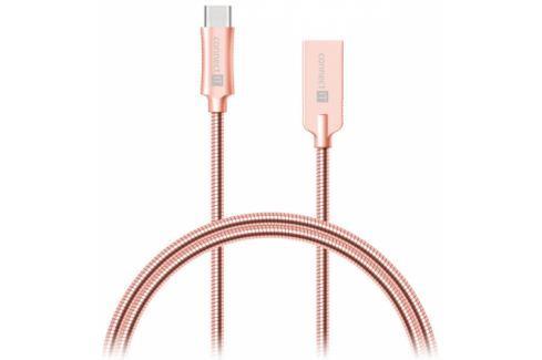 Connect IT Wirez Steel Knight USB/USB-C, ocelový, opletený, 1m (CCA-5010-RG) Data příslušenství