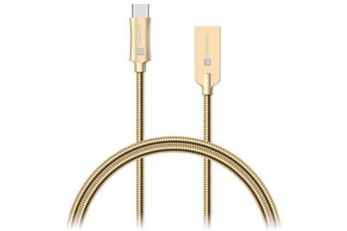 Connect IT Wirez Steel Knight USB/USB-C, ocelový, opletený, 1m (CCA-5010-GD) Data příslušenství