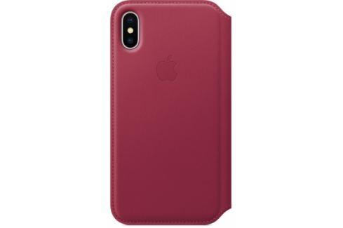 Apple Leather Folio pro iPhone X - malinové (MQRX2ZM/A) Pouzdra na mobilní telefony