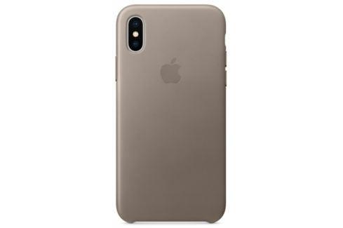 Apple Leather Case pro iPhone X - kouřový (MQT92ZM/A) Pouzdra na mobilní telefony