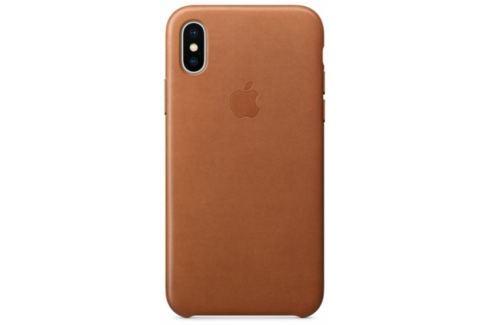Apple Leather Case pro iPhone X - sedlově hnědý (MQTA2ZM/A) Pouzdra na mobilní telefony