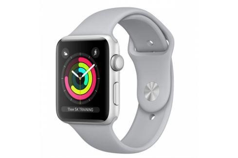 Apple GPS 38mm pouzdro ze stříbrného hliníku - mlhově šedý sportovní řemínek (MQKU2CN/A) Chytré hodinky