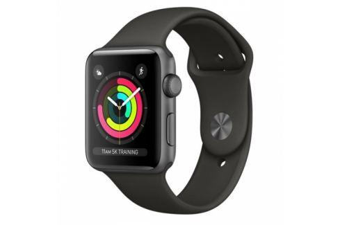 Apple GPS 38mm pouzdro z vesmírně šedého hliníku - šedý sportovní řemínek (MR352CN/A) Chytré hodinky