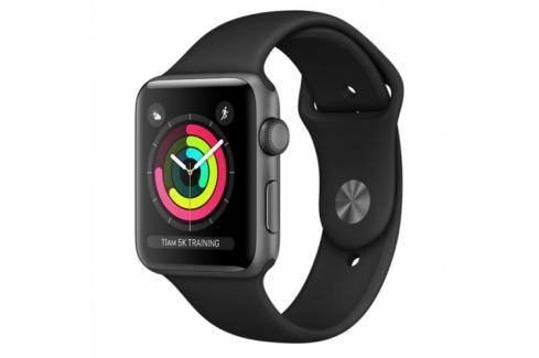 Apple GPS 42mm pouzdro z vesmírně šedého hliníku - černý sportovní řemínek (MQL12CN/A) Chytré hodinky