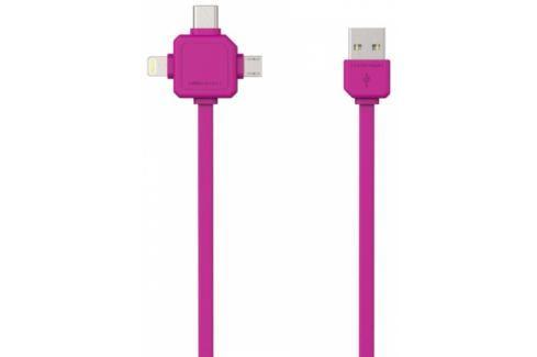 Powercube USB / MicroUSB + Lightning + USB-C, 1,5m (8719186003966) Data příslušenství