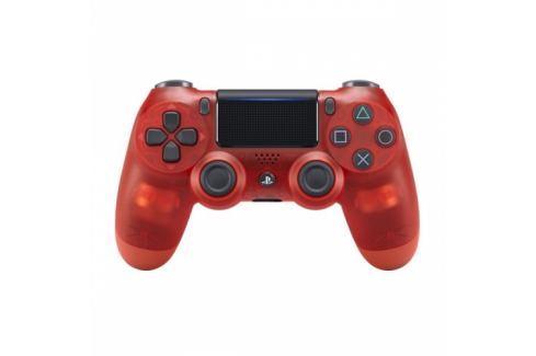 Sony Dual Shock 4 pro PS4 v2 - křišťálově červená (PS719868767) Příslušenství pro Playstation
